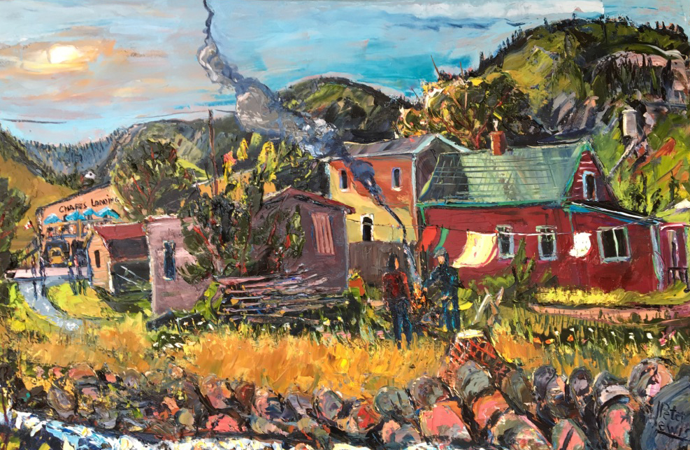 Fire, Ocean and Fish; Petty Harbour
